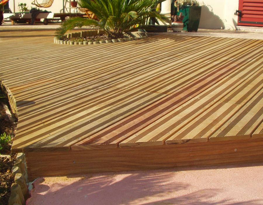 Tbpe terrasse bois pavage environnement for Cout terrasse en bois