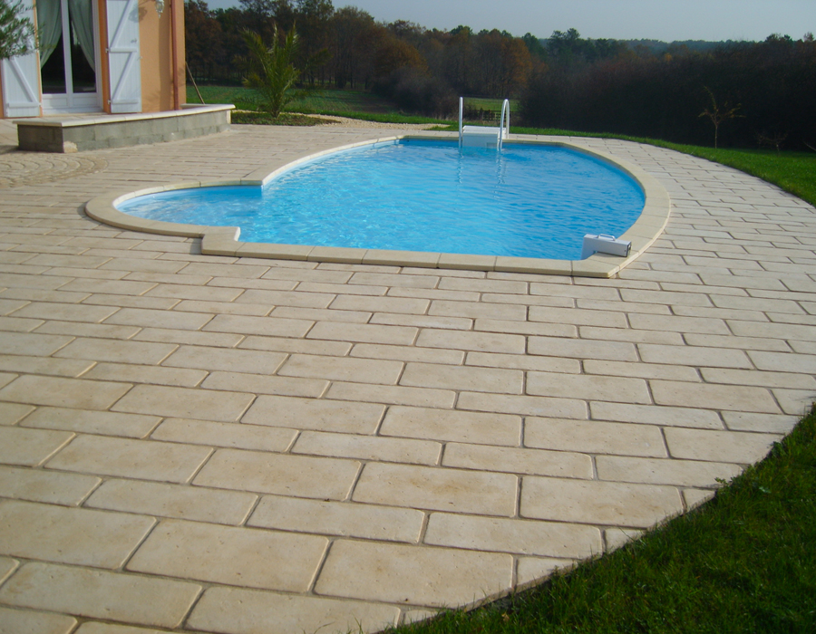 Tbpe terrasse bois pavage environnement - Traitement dalle beton exterieur ...