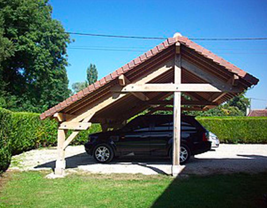 carport bois tbpe terrasse bois pavage environnement. Black Bedroom Furniture Sets. Home Design Ideas